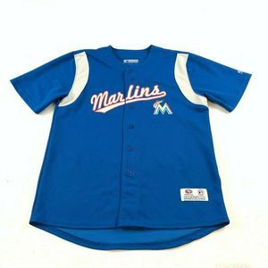 Other - Miami Marlins Button Down Baseball Jersey Large